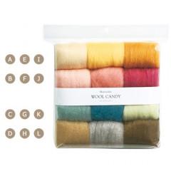 Japan Hamanaka Wool Candy 12-Color Set - Peer Selection