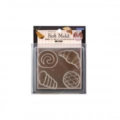 Japan Padico Clay & UV Resin Soft Mold - Bread