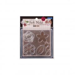 Japan Padico Clay & UV Resin Soft Mold - Flower