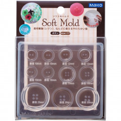 Japan Padico Clay & UV Resin Soft Mold - Button