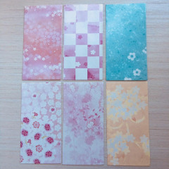 Japanese Envelopes 6pcs - Sakura