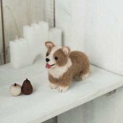 Japan Hamanaka Wool Needle Felting Kit - Welsh Corgi