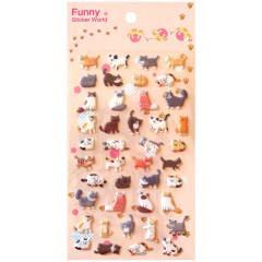 Korea Funny Sticker World Sticker - Cats