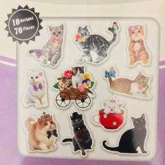 Photo Soup Flake Stickers 70pcs - Cat Kitten