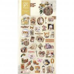 Korea Sonia Photo Nylon Sticker - Lovely Cat Kitten