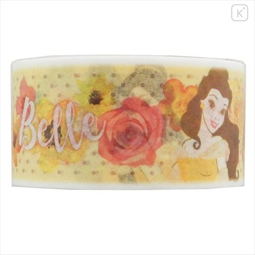 Disney Japanese Washi Paper Masking Tape - Belle Watercolor 23mm × 7m - 2