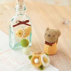 Japan Hamanaka Wool Needle Felting Kit - Bird Strap & Flower Brooch & Squirrel