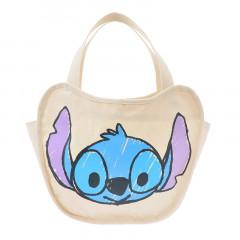 Japan Disney Canvas Tote Bag - Stitch & Angel