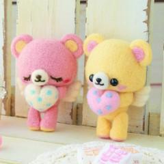 Japan Hamanaka Wool Needle Felting Kit - Angel Bears