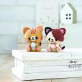 Japan Hamanaka Wool Needle Felting Kit - Calico and Orange Tabby Cats - 3