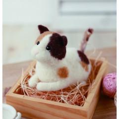 Japan Hamanaka Wool Needle Felting Kit - Calico Cat