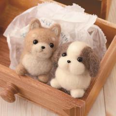 Japan Hamanaka Wool Needle Felting Kit - Shiba Inu & Shih Tzu