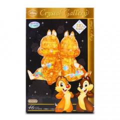 Japan Disney Crystal Gallery 3D Puzzle 46pcs - Chip & Dale