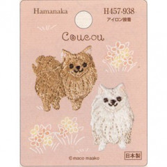 Japan Hamanaka Embroidery Iron-on Applique Patch - Dog Pomeranian