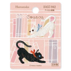 Japan Hamanaka Embroidery Iron-on Applique Patch - Black & White Cat