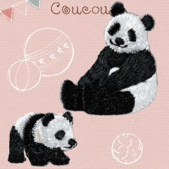 Japan Hamanaka Embroidery Iron-on Applique Patch - Panda