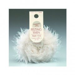 Japan Hamanaka Wool Needle Felting Yarn Far - White