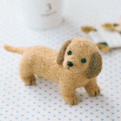 Japan Hamanaka Wool Needle Felting Kit - Miniature Dachshund