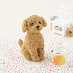 Japan Hamanaka Wool Needle Felting Kit - Apricot Toy Poodle