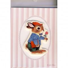 Japan Import Printed Felt Patch - Propose Rabbit