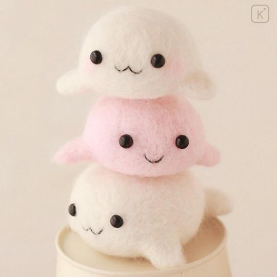 Japan Hamanaka Wool Needle Felting Kit - Seal Siblings - 1