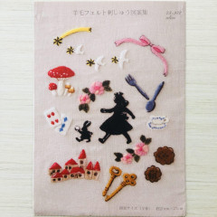 Japan Clover Wool Felt Embroidery Pattern - Alice