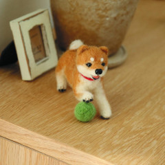 Japan Hamanaka Wool Needle Felting Kit - Shiba Inu with Ball