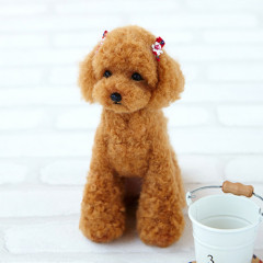 Japan Hamanaka Wool Needle Felting Lesson Kit - Toy Poodle