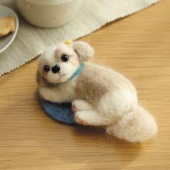 Japan Hamanaka Wool Needle Felting Kit - Shih Tzu