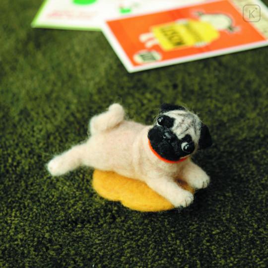 Japan Hamanaka Wool Needle Felting Kit - Pug - 1