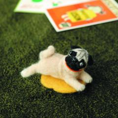 Japan Hamanaka Wool Needle Felting Kit - Pug