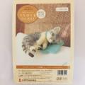 Japan Hamanaka Wool Needle Felting Kit - Grey Tabby Cat - 2
