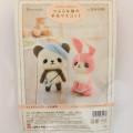 Japan Hamanaka Wool Needle Felting Kit - Beret Panda & Pink Rabbit - 2