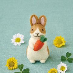 Japan Hamanaka Wool Needle Felting Kit - Rabbit
