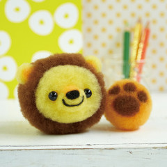Japan Hamanaka Aclaine Pom Pom Craft Kit - Bonbon Lion and Toy Ball
