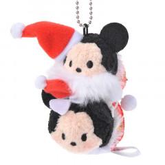 Japan Disney Tsum Tsum Key Chain - Mickey & Minnie × Christmas