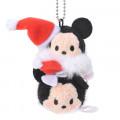 Japan Disney Tsum Tsum Key Chain - Mickey & Minnie × Christmas - 2