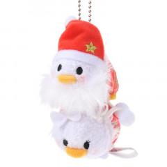 Japan Disney Tsum Tsum Key Chain - Donald & Daisy × Christmas