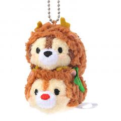 Japan Disney Tsum Tsum Key Chain - Chip & Dale × Christmas