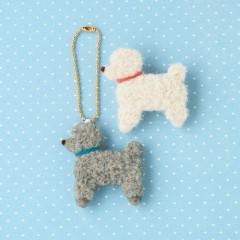 Japan Hamanaka Wool Needle Felting Kit - Toy Poodle Brooch & Charm