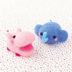 Japan Hamanaka Aclaine Needle Felting Kit - Elephant & Hippo