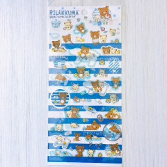 San-X Rilakkuma Sticker - Blue Stripes