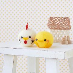 Japan Hamanaka Acliaine Needle Felting Kit - Chick & Chicken Ball