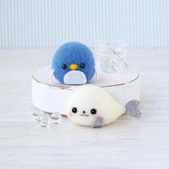 Japan Hamanaka Acliaine Needle Felting Kit - Seal & Penguin