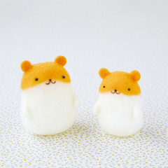 Japan Hamanaka Aclaine Needle Felting Kit - Squishy Hamster