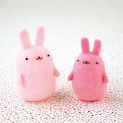 Japan Hamanaka Aclaine Needle Felting Kit - Squishy Rabbit