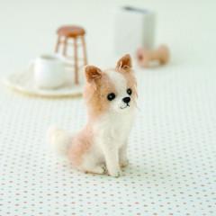 Japan Hamanaka Wool Needle Felting Kit - Long Coat Chihuahua