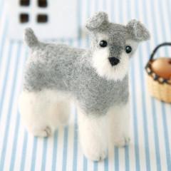 Japan Hamanaka Wool Needle Felting Kit - Miniature Schnauzer