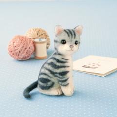 Japan Hamanaka Wool Needle Felting Kit - American Shorthair