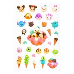 Japan Disney Sticker - Tsum Tsum Ice Cream Mickey & Friends
